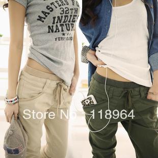 2013 New,Korean/Japan fashion women cotton pants,ladies casual trousers,3colors