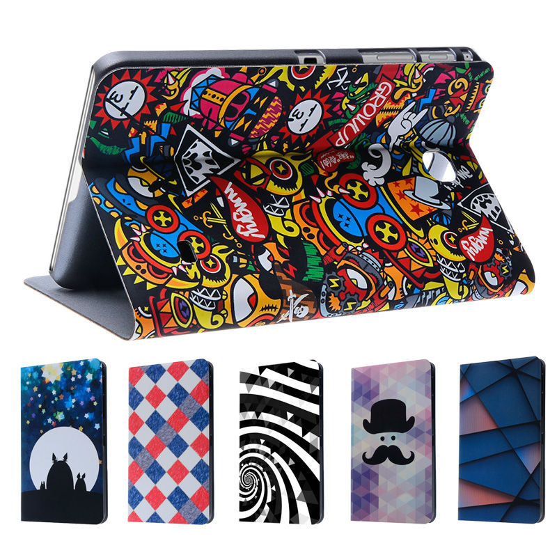 smart cases for Samsung Galaxy Tab 4 7.0 T230 leather case cover fashion cartoon cute design tablet accessories(China (Mainland))