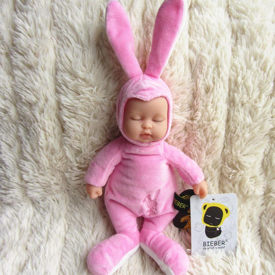 Doll vinyl bieber doll reborn baby pink rabbit baby  Toy For Girls  BE002<br><br>Aliexpress