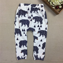 0-2Years Baby Boys Cotton Harem Pants Boy Girl Autumn Spring Leggings Trousers Toddler Fashion 2016 New 20G(China (Mainland))