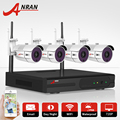 Plug And Play 4CH Wireless NVR CCTV System 720P WIFI IP Camera HD IR Outdoor Night