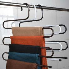 Multifunction Practical Convenient 5 Layers Brand New Magic Tie Towels Belt Trousers Pants Closet Hanger Racks Holder(China (Mainland))