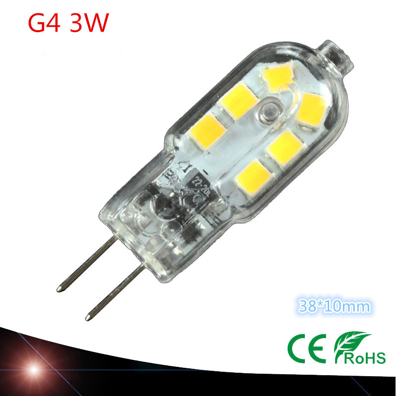 2016 new High quality 220V 12V G4 LED 3W Corn Light SMD bulb Super bright Replace Halogen Lamp Led Light(China (Mainland))