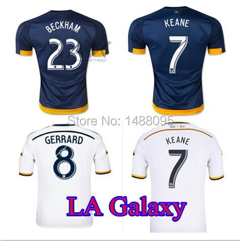 USA 2015 Los Angeles Galaxy 15 16 Soccer jersey LA Galaxy 2015 GERRARD Camisetas football shirt 2016 LA KEANE DONOVAN BECKHAM(China (Mainland))