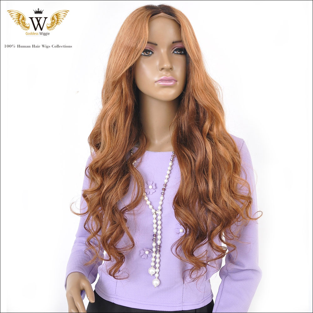 180Density Fast Shipping Wavy Hair Wig Ombre Glueless Human Hair Full Lace Blonde Wigs/Ombre Lace Front Wig With Baby Hair