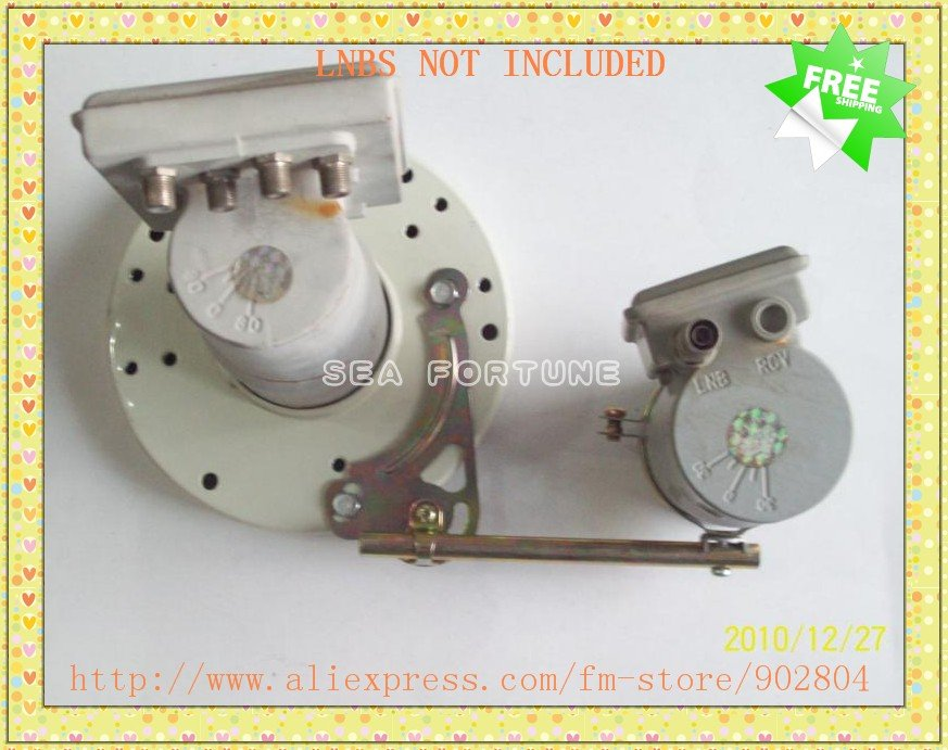 New design, LNB Bracket/Holder/Mount 2 Satellite Dish LNBs, 2 LNBs on 1 Dish, Drop Shipping(China (Mainland))
