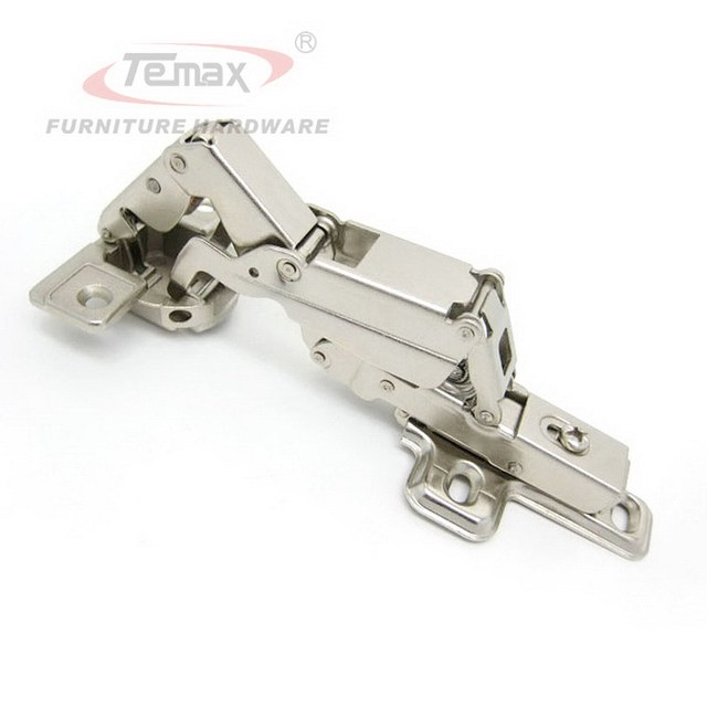 165 degree Hydraulic Clip-on brass buffering  furniture kitchen cabinet door concealed spring hinge
