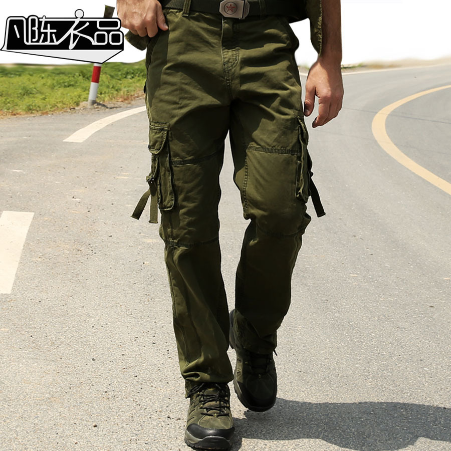mens military style cargo pants - Pi Pants