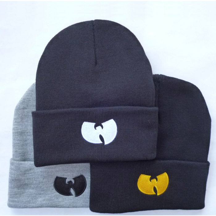 High Quality New Fashion Winter WU TANG CLAN Beanie Hats For Women Men Unisex Acrylic Black Knitted Caps Gorro Tocas 1MZ0507(China (Mainland))