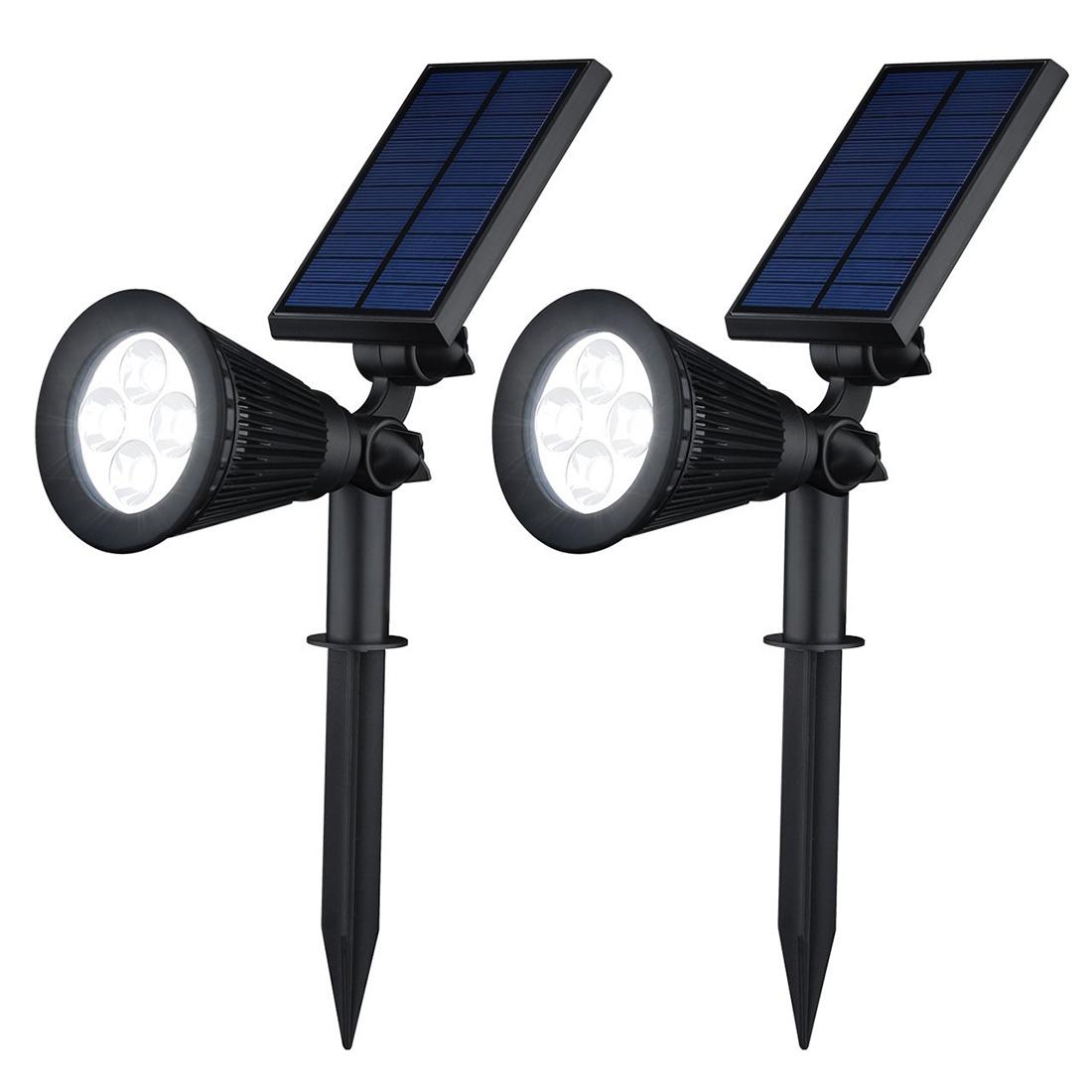 high bright led solar light waterproof ip55 4 led solar lamp