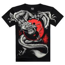 Top Quality 2016 New Brand Men's Cotton Short Sleeve T-shirt Fashion Casual O-neck Dragon 3D Printed T Shirt M-XXXL AXTX061