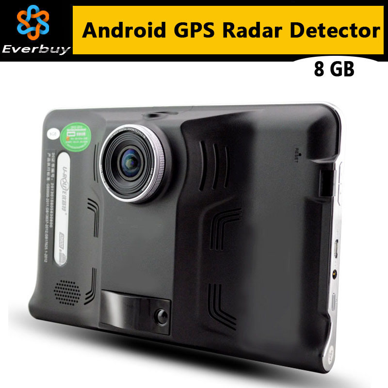 New 7 inch HD Android GPS Navigation Anti Radar Detector Car DVR Camera Recorder Truck vehicle gps Free map tablet pc 8GB(China (Mainland))