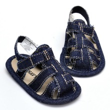 2016 Summer Baby Infant Boys Hook & Loop Anti-Slip solid color Crib Soft Sole Flat baby shoes 0-18 Months(China (Mainland))