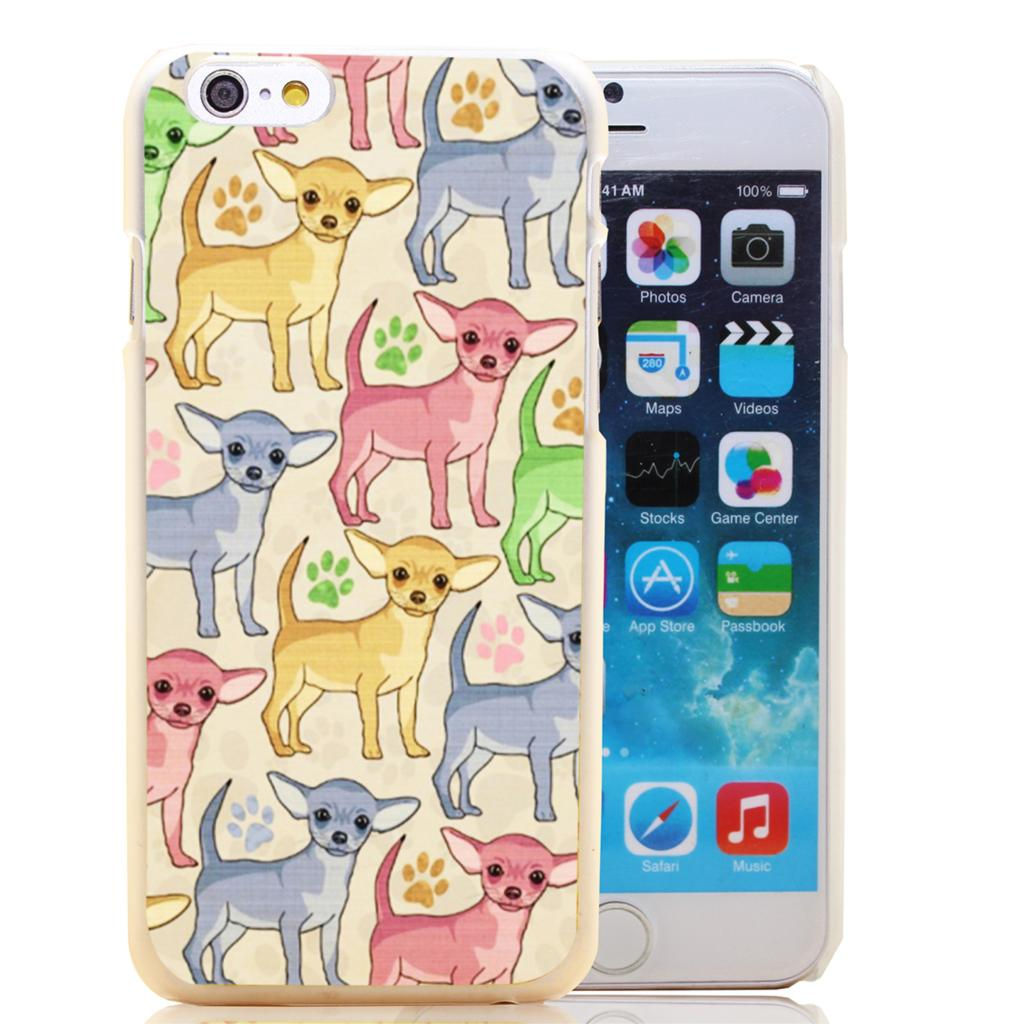 1165T Chihuahua Lover Hard Transparent Clear Case for iPhone 4 4s 5 5s SE 5c 6 6s & Plus