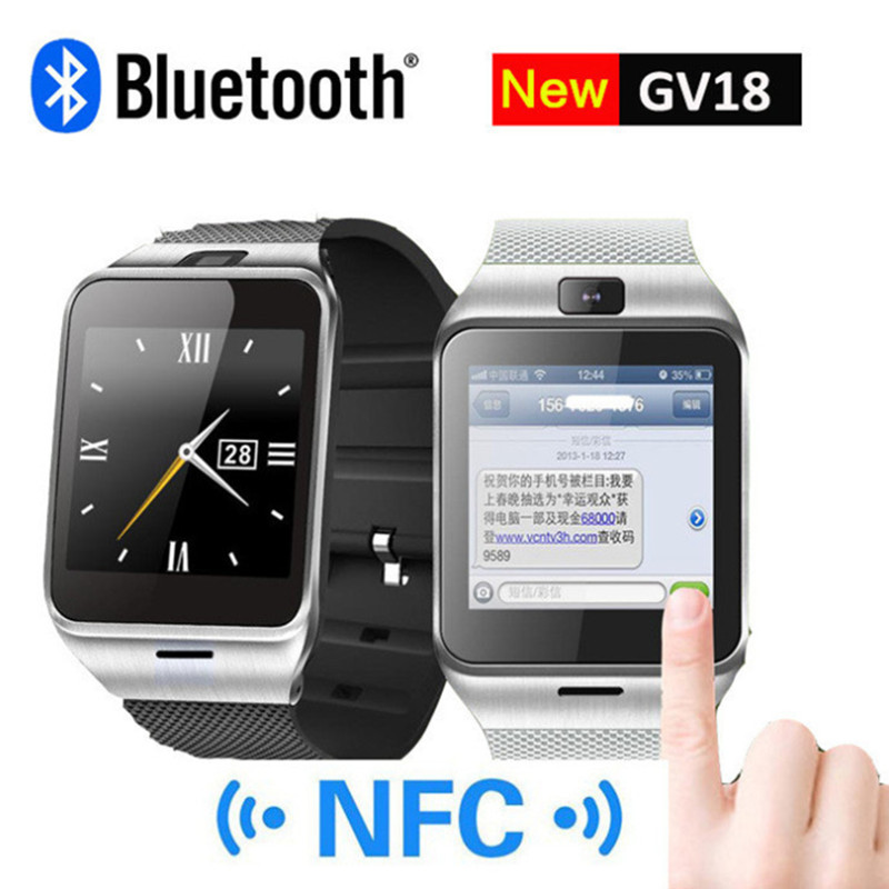 Smart Watch GV18 with Camera Sync Notifier Support Sim Card Bluetooth Connectivity Iphone Android Phone Smartwatch DigitalWatch(China (Mainland))