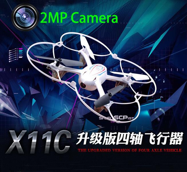 High quality Syma X11C HD Camera Drone 2pcs battery 2.4G 4CH RC quadcopter with 2MP Camera better than Hubsan X4 H107C H108C