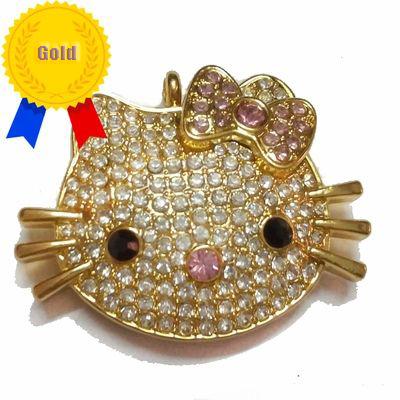 Hello Kitty Jewelry Usb Flash Drive 32gb 16gb 8gb Gift Usb Stick Free Shipping Disk on Key(China (Mainland))