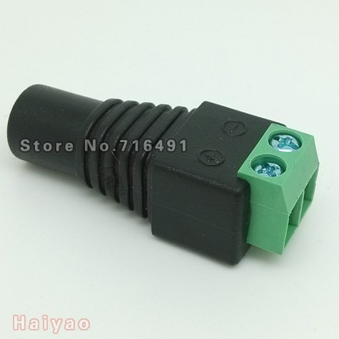 50PCS / lot 2.1x5.5mm female DC Power Jack Adapter Plug Cable Connector for cctv camera or led plugs(China (Mainland))