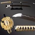 Handmade 1095 Carbon Steel Clay Tempered Blade Japanese Katana Samurai Real Sword Hamon FULL TANG Sword