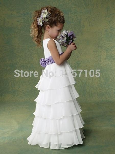Длина пола дешевые красивая кот белый шар боун совок рукавов с бантом органзы цветок ...