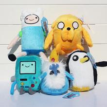 Adventure time Plush Toys 5style Jake Finn Beemo BMO Penguin Gunter Ice king Stuffed Animals Plush Dolls Soft Toys Free Shipping(China (Mainland))