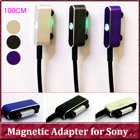 1Pcs USB Magnetic Charging Adapter Charger Cable For Sony Xperia Z1 Z2 L39H C6903 C6906 XL39H Z1 Compact Tablet Z2 Z3 Z3 Compact(China (Mainland))