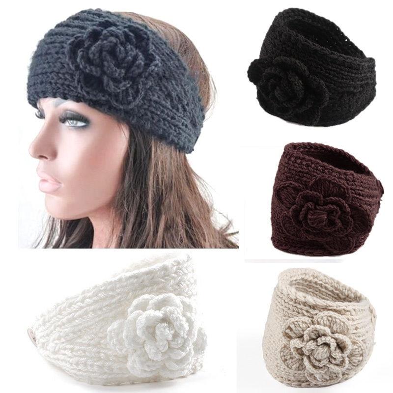 Hot Sale 1pcs Multi-Colors Women Crochet Headband Knit Headband Hairband Flower Winter Ear Warmer Headwrap(China (Mainland))