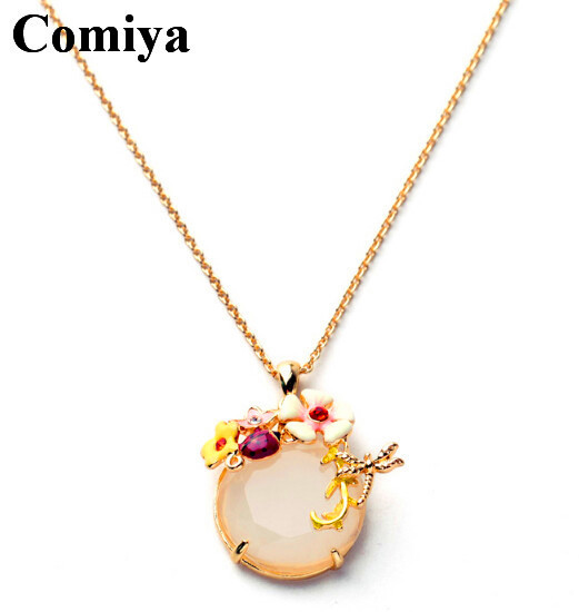 Vintage stone pendant necklaces for sale aliexpress top quality zinc alloy OL lady's maxi colar necklace perfume women jewelry(China (Mainland))