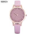 2016 New Luxury REBIRTH Brand Watches Women Fashion Casual Leather Crystal Quartz Watch Female Dress Clock
