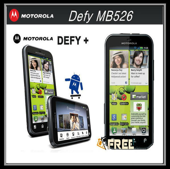 "MB526 MOTOROLA Defy MB526 Original Unlock Dust & Water Resistant refurbished Mobile Phone 3.7""Touch Screen 5MP Camera A-GPS WIFI(China (Mainland))"