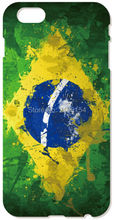 Retail Brazil Flag phone Cover For iphone 4 4S 5 5S SE 5C 6 6S Plus For iPod Touch 4 5 6 Back Skin Plastic Hard Cell Mobile Case