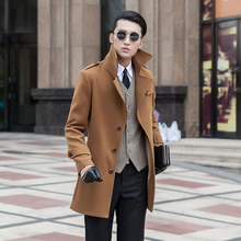 new arrival winter trench fashion slim obese high quality woolen overcoat men's plus size 2XL 3XL 4XL 5XL 6XL 7XL 8XL 9XL(China (Mainland))