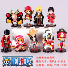 Free Shipping Anime One Piece Action Figures Cute One Piece Film Z Mini Figure Toys Dolls set of 8 OPFG188