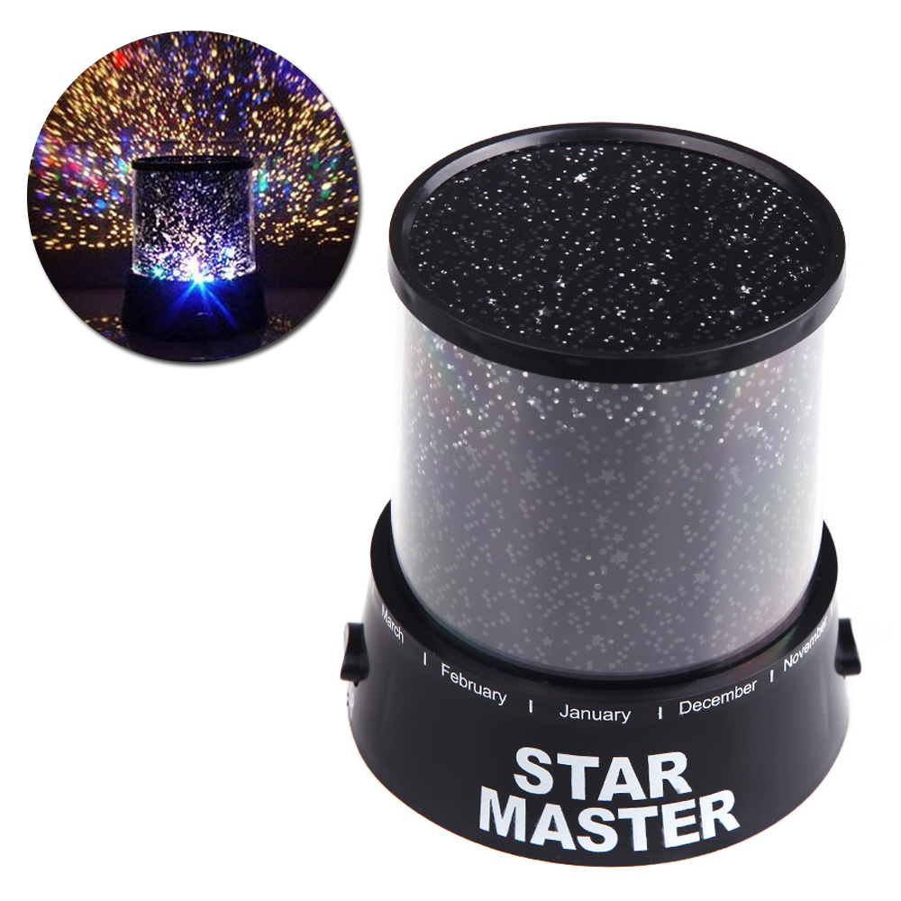 Star Master Bedroom Night Light Novelty Amazing LED Sky Star Master Bedside Light Projector Lamp Night Lamp No Battery(China (Mainland))