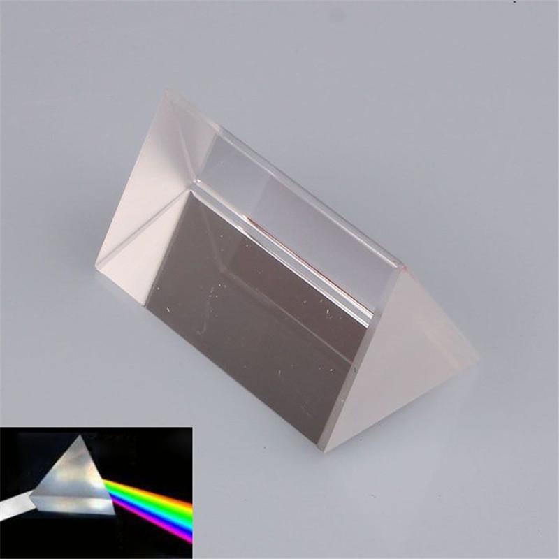 2017 New toys for children dolls Optical Glass Triangular Prism Physics Teaching Light Spectrum Model 5cm High Quality(China (Mainland))