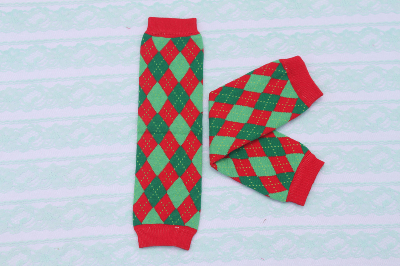 hot sale 2014 baby leg warmers children 100% cotton baby leg warmer Red Green Checker socks adult arm warmers 12pairs/lot Melee(China (Mainland))