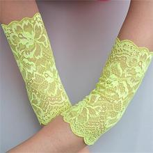 Summer Fashion Lace Arm Sleeves For Women Sun Protection Driving Sleeve Ladies Arm Warmers Uv Arm Cover Garter(China (Mainland))