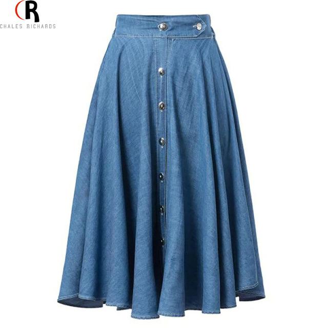 2015 CHOIES Женская Джинсовая Юбка Синяя С Завышенной Талией Юбка Солнце Весена Лето Новая Женская Мода