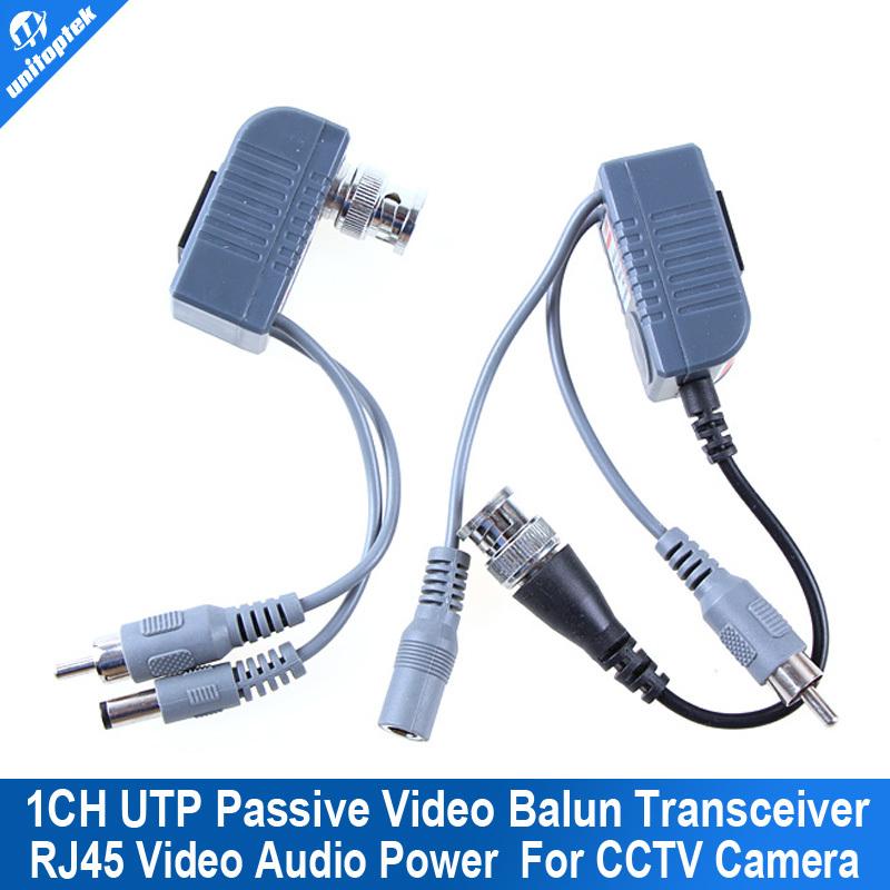 CCTV CAT5 balun rj45 video power Balun Video Audio Power for camera 1Pair(China (Mainland))