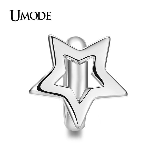 Umode форме звезды подвески для натуральной кожи браслеты из белого золота DIY прелести ...