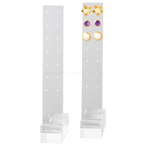 Free Shipping Acrylic Earrings Display with 8 pairs Stud Display Acrylic Earrings Holder Earrings Stand Rack JW012(China (Mainland))