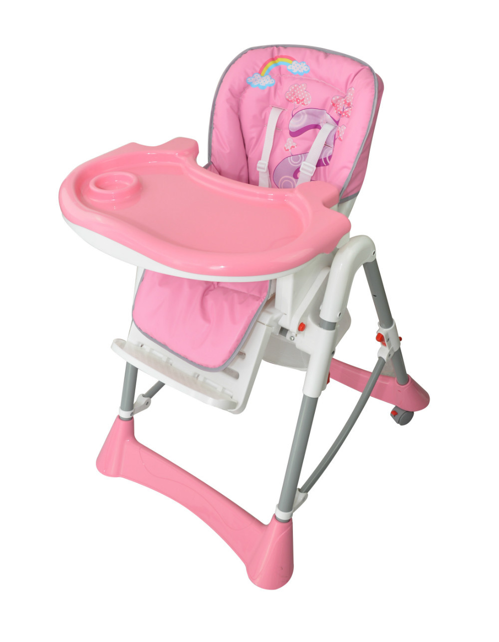 New design fashion colorful baby high chair with high for Baby chair design