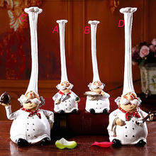 Buy Europe Restaurant Top Hat Chef Statues Coffee Shop Ornament Decorative Arts 2 pcs /set S L for $6.49 in AliExpress store