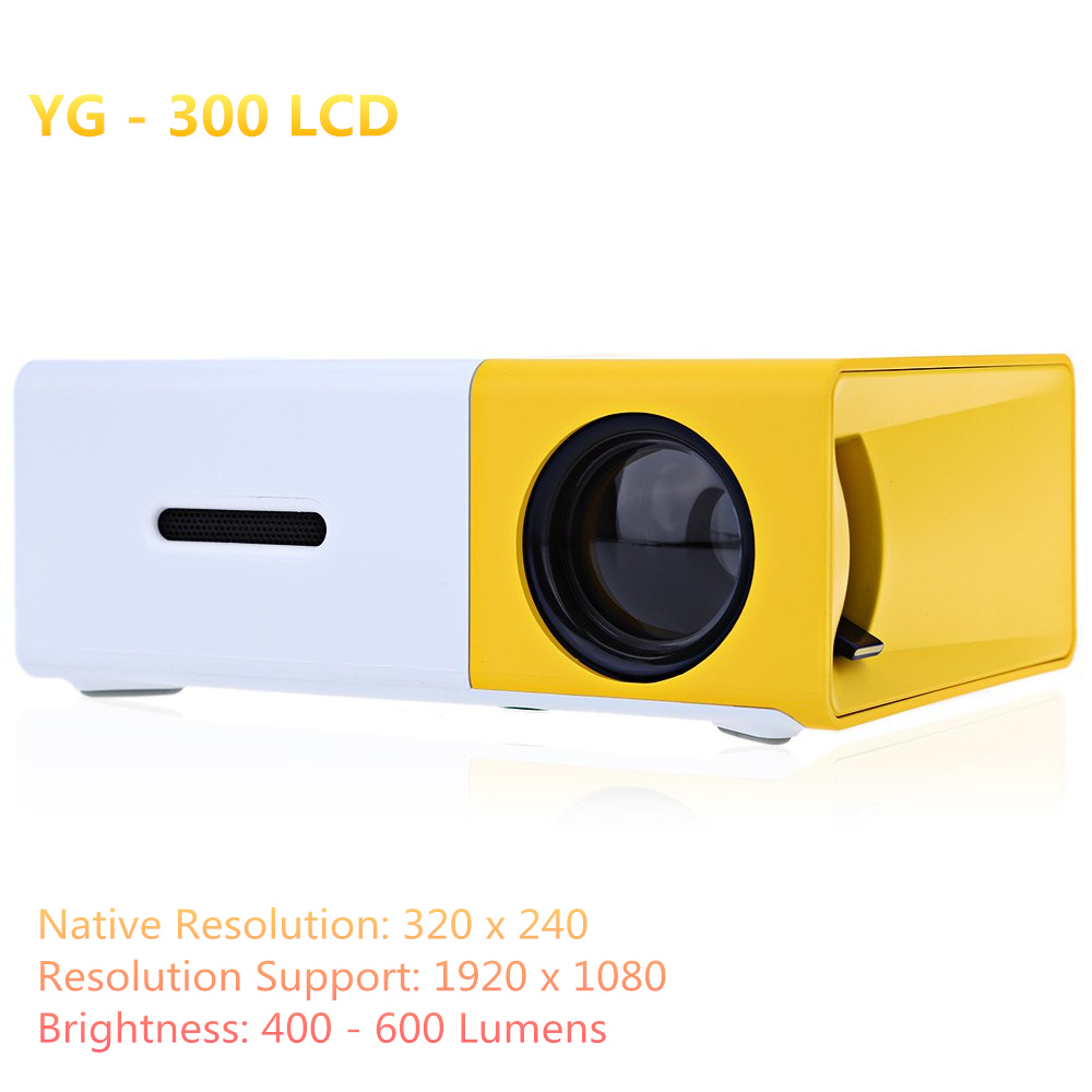 Mini probable projector concise efficient compact yg300 yg for Small lcd projector reviews