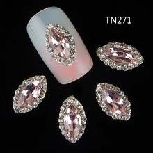 10pcs 3d nail jewelry decoration nails art glitter rhinestone for manicure pink gem design nail accessories tools