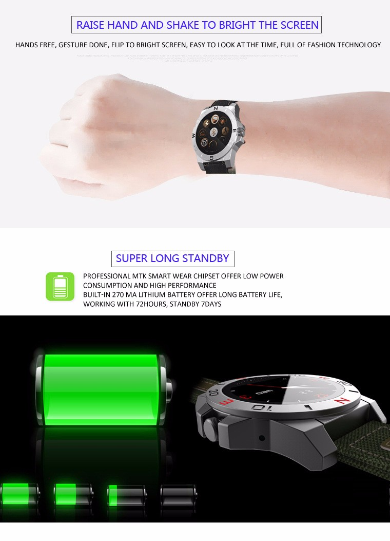 2017 Luxury n10 smart watch with outdoor sport heart rate monitor and compass waterproof smartwatch for wach iphone and android