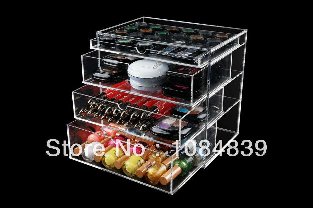 high quality fashionable handmade 4 drawer acrylic makeup organizer. Acrylic Makeup Organizer With Drawers   Mugeek Vidalondon