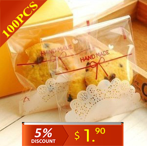 Cake Gift Packages OPP Plastic Package Bag Lovely lace Bow Design Candy Ctue Paper Pack Free Shipping 100Pcs(China (Mainland))