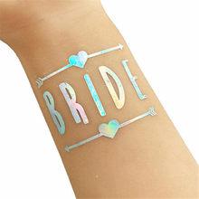 Décorations de mariage mariée douche mariage voile équipe mariée à être Satin ceinture Bachelorette partie fille poule partie décoration fournitures(China)