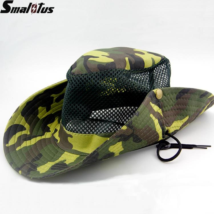 New style portable fishing cap breathable fisherman bucket for Mesh fishing hats